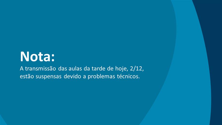 As aulas precisaram ser canceladas por causa de problemas técnicos com a internet, mas ao final da tarde de hoje, (2), serão encaminhadas informações