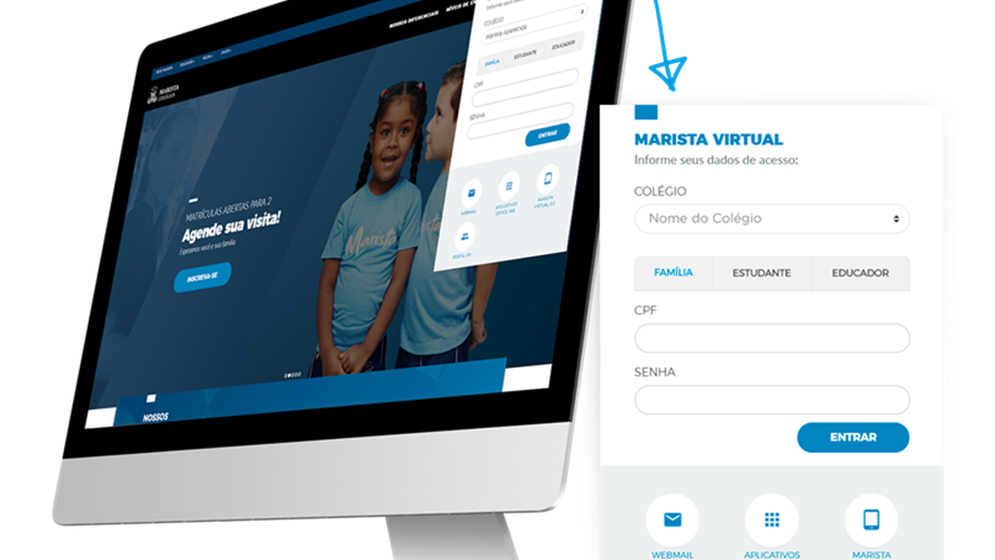Marista Champagnat disponibiliza plataforma online e pacote office 365 a estudantes da Educação Infantil ao Ensino Médio.