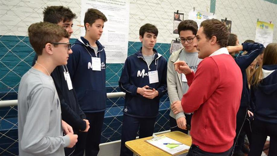 Os estudantes do 5º ano EF ao 3º ano EM produziram 65 trabalhos científicos para o evento