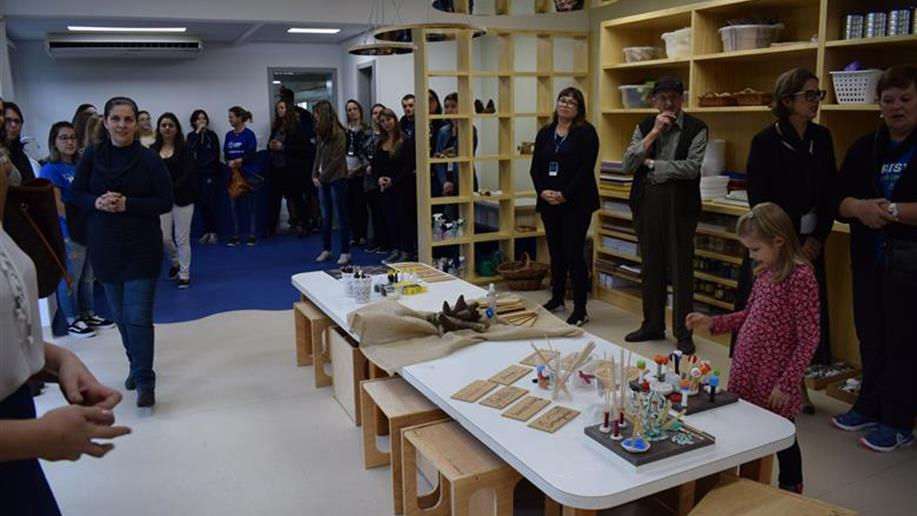 O ateliê será um espaço de vivências e experimentação para os estudantes da Educação Infantil