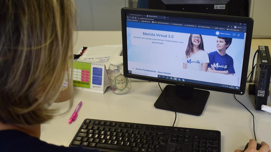 Com login disponibilizado pelo Colégio Marista Aparecida, educadores e estudantes podem organizar suas rotinas, compartilhar atividades e conversar com seus colegas em diferentes dispositivos