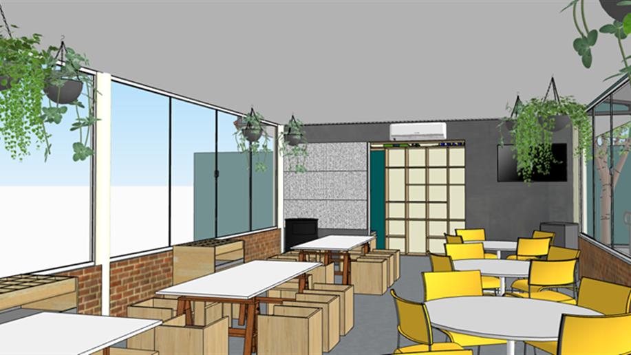 Novos espaços estão sendo preparados para a comunidade escolar.