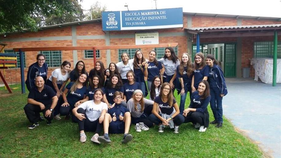 Em 2018 o grupo de Voluntariado do Colégio aumentou e realizou diversas ações e atividades sociais.