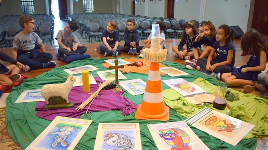 Pastoral Escolar promoveu diversas atividades em preparação para a Páscoa com a comunidade escolar.