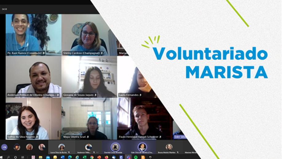 Grupo Voluntariado do Marista Champagnat realiza primeiro retiro online de 2021