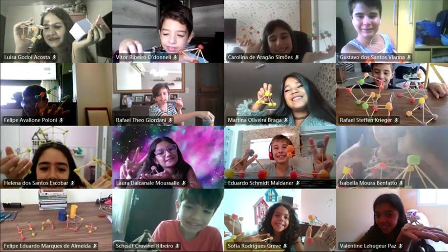 Estudantes do 5º ano EF realizam atividade sobre percepção geométrica