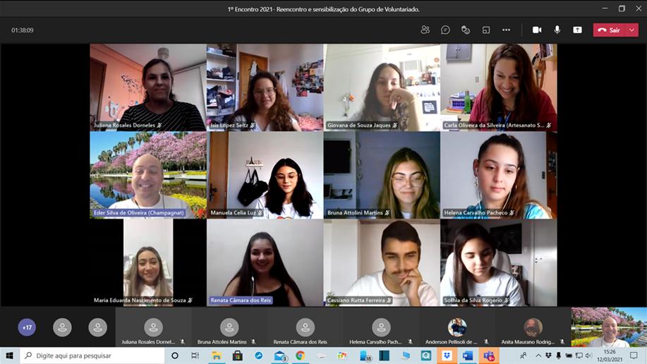 Estudantes do grupo de Voluntariado e PJM iniciam as atividades de 2021