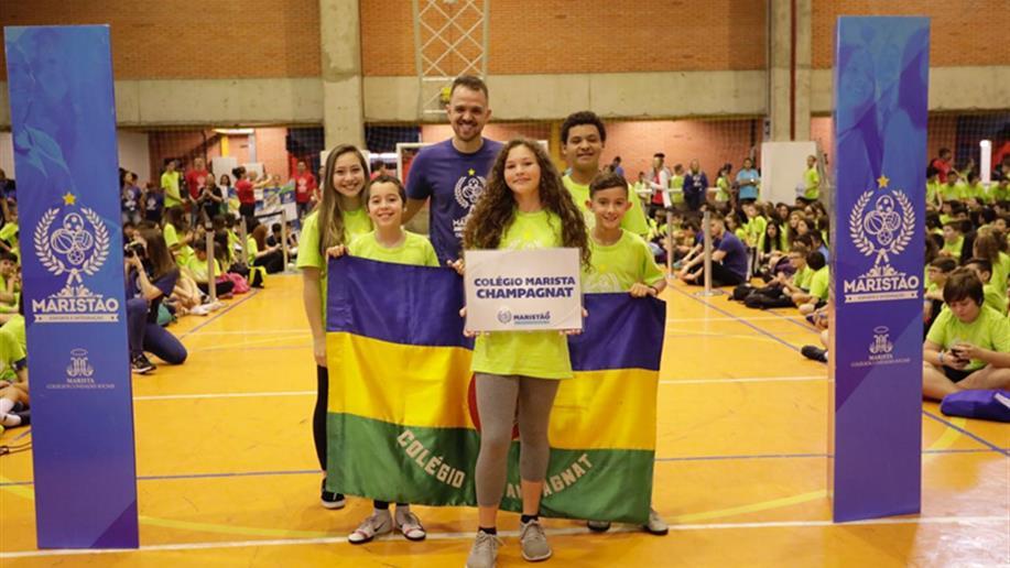 Jovens estudantes representam o Colégio no maior evento esportivo da Rede Marista