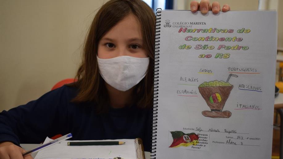 Estudantes do 4º ano do Ensino Fundamental do Marista Champagnat realizam pesquisa sobre o processo de formação populacional, cultural e identitária do Rio Grande do Sul