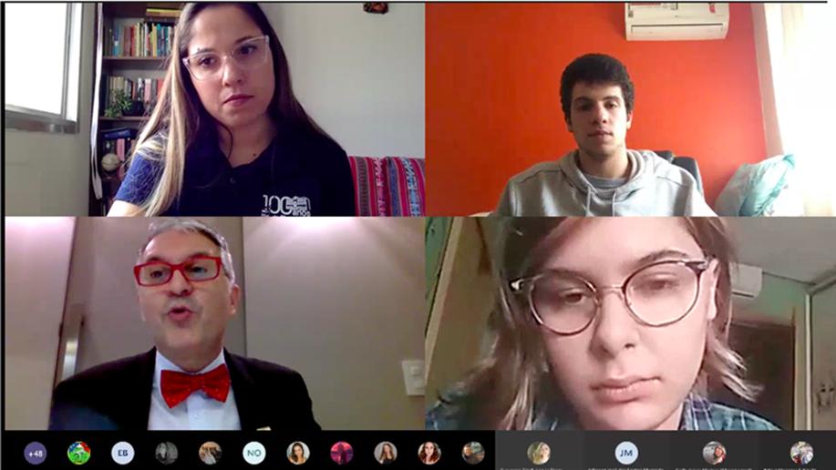 Estudantes dos Anos Finais do Ensino Fundamental e do Ensino Médio do Marista Champagnat participam de aulas online por área do conhecimento