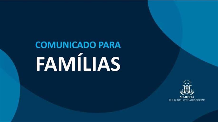 De 13 à 16 de outubro não teremos lives e/ou atividades pedagógicas. Apenas funcionamento administrativo.