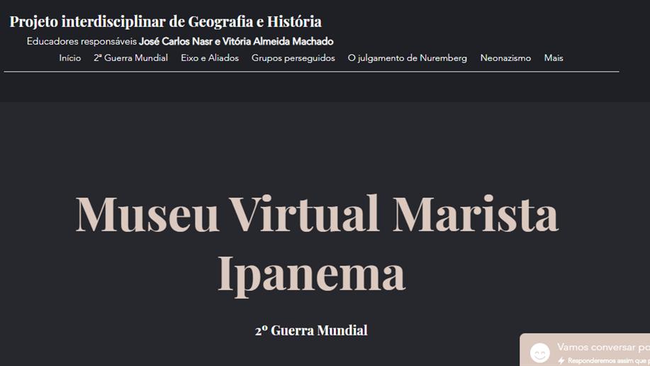 Na última sexta-feira, dia 18/9, as turmas do 9º ano EF lançaram um museu virtual sobre a Segunda Guerra Mundial