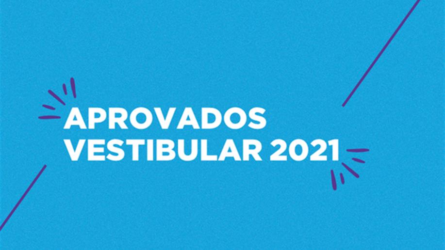 Confira os estudantes aprovados nos vestibulares para 2021
