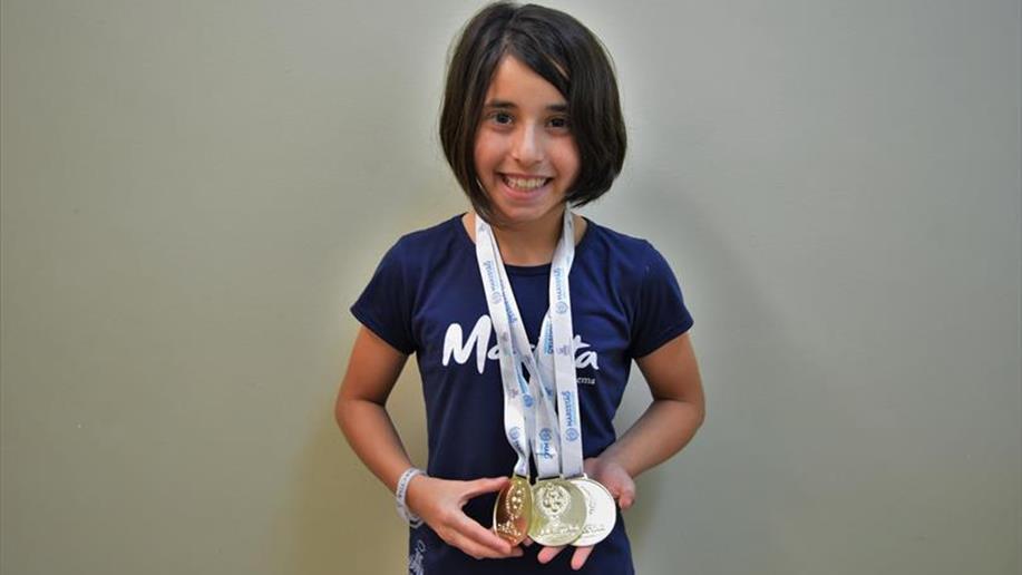 Aos 9 anos, Alice Falcão já coleciona bons resultados na modalidade.