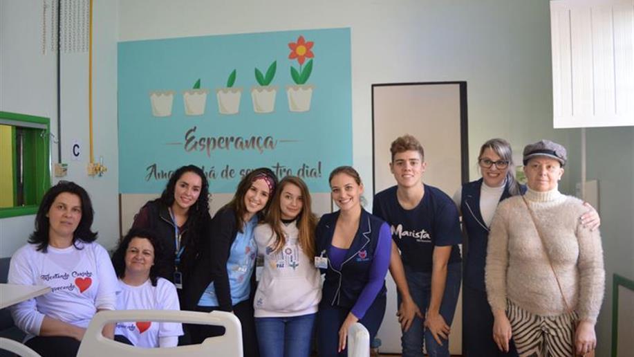 Os projetos envolvem a Associação de Pais e Mestres e os estudantes da Pastoral Juvenil Marista.