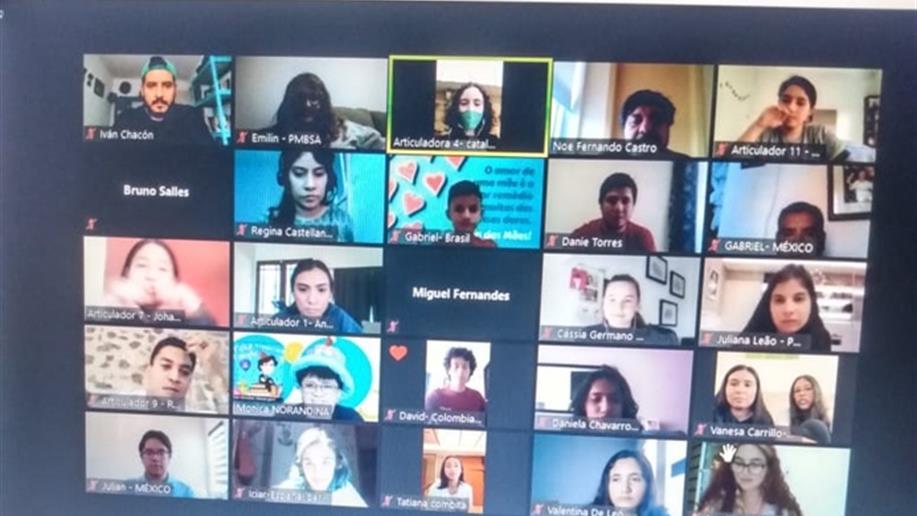 O evento online reuniu em torno de 100 jovens do mundo todo
