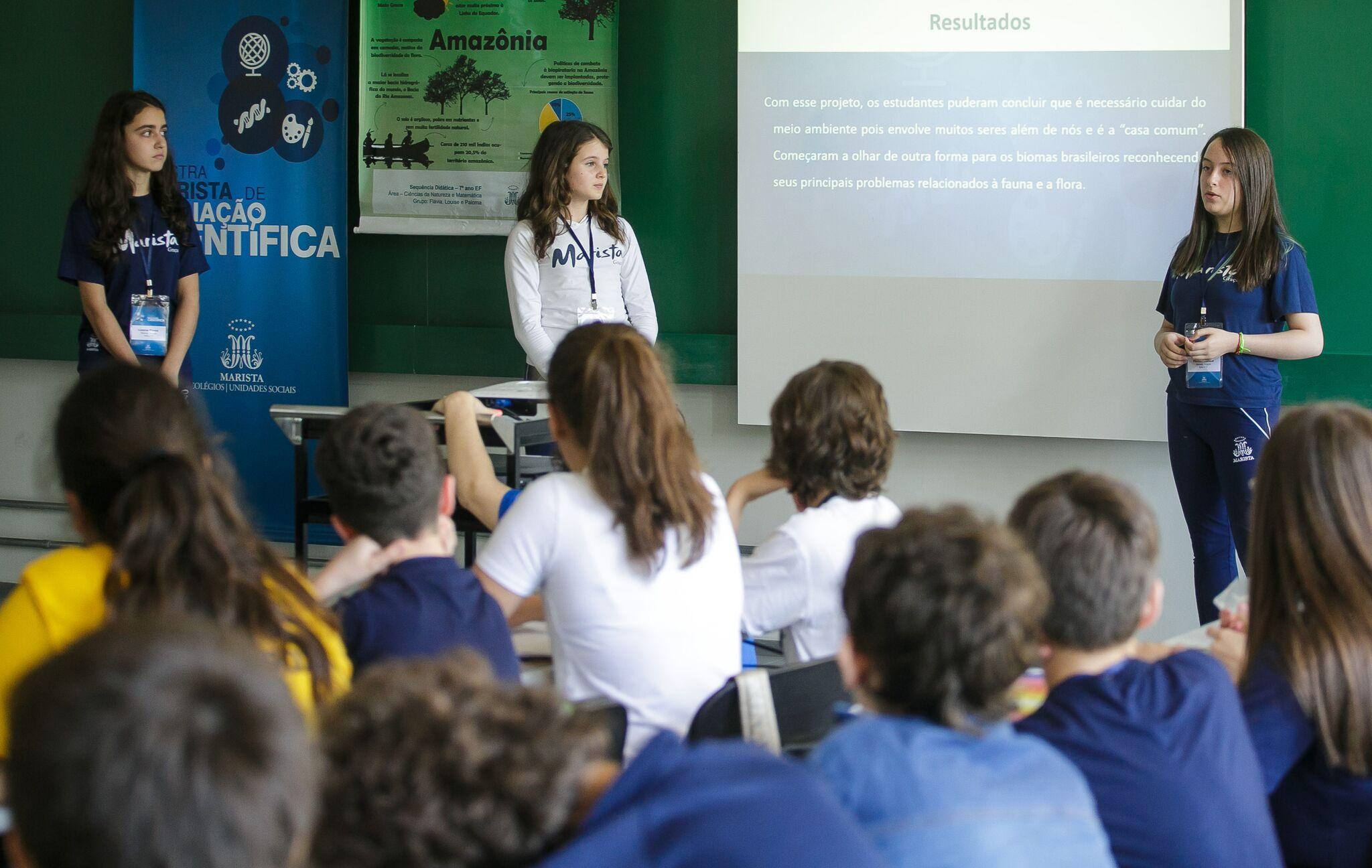 Evento que reúne projetos de pesquisa realizados por estudantes dos Colégios da Rede Marista