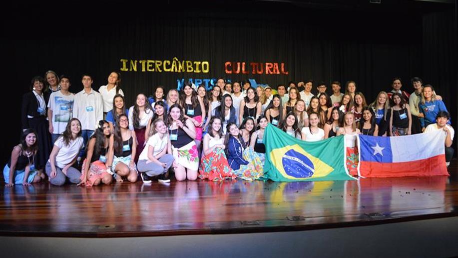 Chilenos ficarão hospedados na casa de famílias do Ensino Médio que participam do Intercâmbio Cultural Marista Brasil e Chile