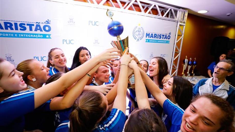 Das 10 equipes do Colégio, cinco conquistaram o ouro no maior evento esportivo da Educação Básica no RS.