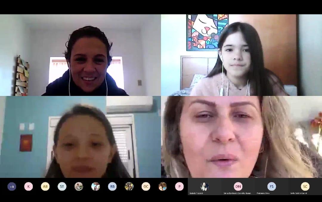 Gislaine Diulio, do Rio de Janeiro, foi a convidada especial para uma live sobre o tema com os estudantes do 5º ano do Ensino Fundamental