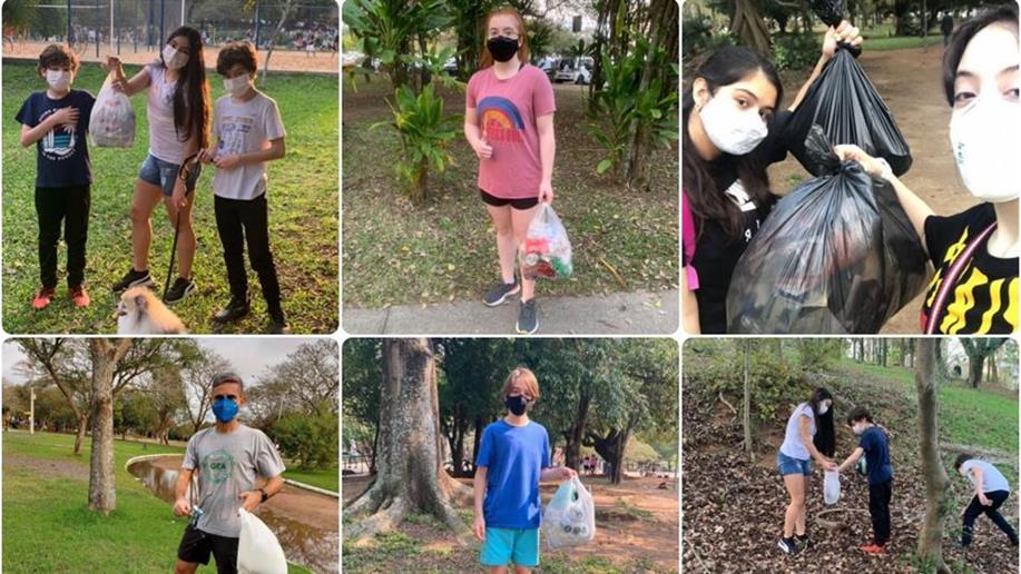 Grupo de Educação Ambiental realizou atividades físicas aliadas ao recolhimento de resíduos urbanos em parques de Porto Alegre