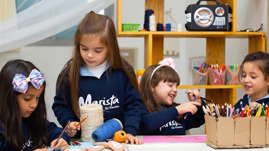 A partir de agosto, as salas de aula da Educação Infantil serão atualizadas. O mobiliário é pensado para o desenvolvimento da Proposta Pedagógica Marista.