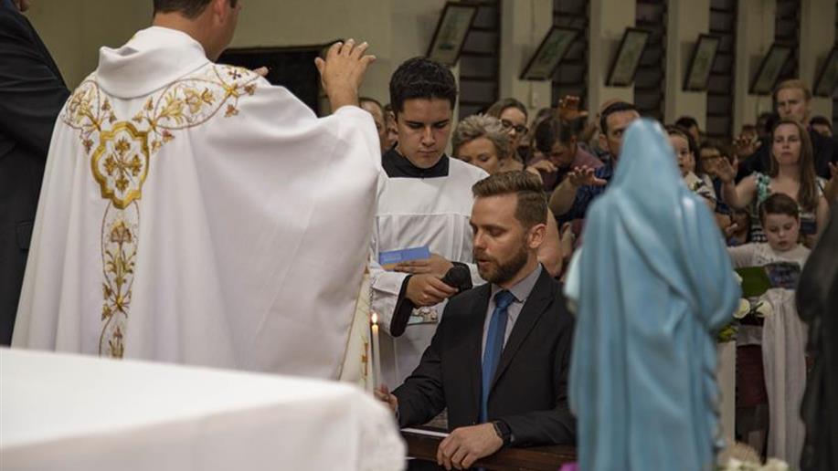 No último sábado, 22/9, ocorreu na Comunidade Santa Teresa, em Campina das Missões, a Consagração Definitiva do Ir. Jader Luiz Henz.