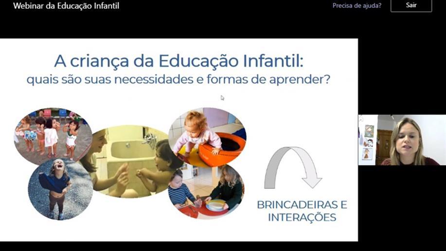 A formação para educadores da educação infantil reuniu profissionais de diversas regiões