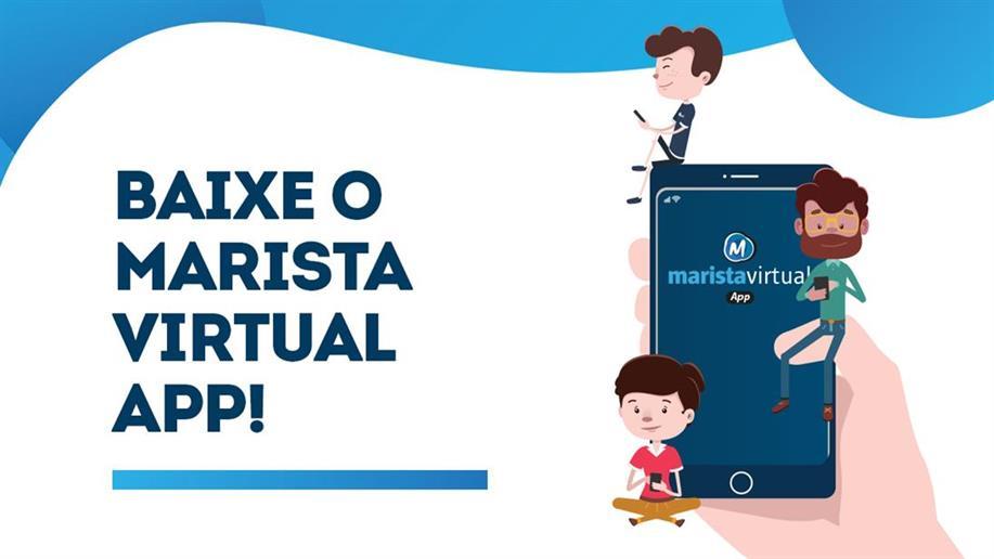 Com o Marista Virtual App, as famílias podem acompanhar a rotina escolar de seus filhos, a partir de dispositivos móveis.