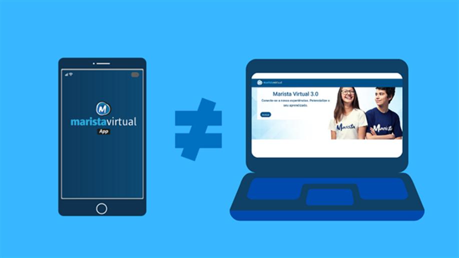Entre as principais plataformas virtuais que utilizamos com nossa comunidade escolar, duas são constantes motivo de confusão: Marista Virtual e Marista Virtual 3.0.